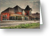 Photo Art Greeting Cards - Lima Ohio Train Station Greeting Card by Pamela Baker