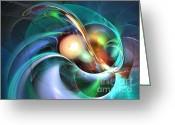 Computerart Greeting Cards - Limbo of oblivion - Fractal art Greeting Card by Sipo Liimatainen