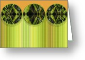 Orange And Green Greeting Cards - Lime Delight Greeting Card by Ann Powell