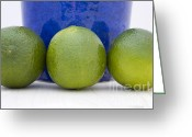 Lemons Greeting Cards - Lime Greeting Card by Frank Tschakert