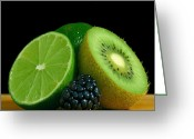 Kiwi Greeting Cards - Lime It Up Greeting Card by Davor Sintic