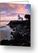 Colours Greeting Cards - Lime Kiln Dawn Greeting Card by Inge Johnsson