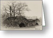 Lime Digital Art Greeting Cards - Lime Kilns at Plymouth Meeting Greeting Card by Bill Cannon