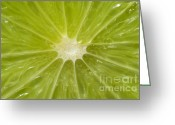 Summertime Drink Greeting Cards - Limelight Greeting Card by Luke Moore