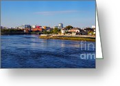 City Centre Greeting Cards - Limerick city and Shannon river Greeting Card by Gabriela Insuratelu