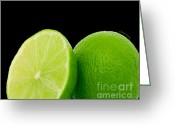 Essential Greeting Cards - Limes Greeting Card by Cheryl Young