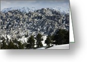 Snow Capped Greeting Cards - Limestone Karst Landscape Greeting Card by Bob Gibbons