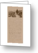 Abraham Lincoln Greeting Cards - Lincoln and The Gettysburg Address Greeting Card by War Is Hell Store