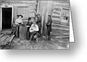 Typewriter Greeting Cards - LINCOLN CABIN, c1891 Greeting Card by Granger