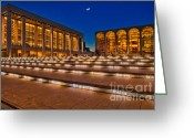 Performing Greeting Cards - Lincoln Center Greeting Card by Susan Candelario
