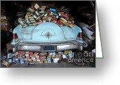 Collectors Car Greeting Cards - Lincoln Continental and Spare Parts - 5D18410 Greeting Card by Wingsdomain Art and Photography