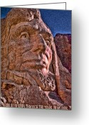 Abraham Mixed Media Greeting Cards - Lincoln Crying Greeting Card by Kevin  Sherf