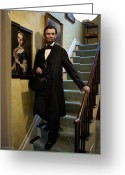 Military Pictures Greeting Cards - Lincoln Descending Stairs 2 Greeting Card by Ray Downing