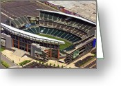 Philadelphia Greeting Cards - Lincoln Financial Field Philadelphia Eagles Greeting Card by Duncan Pearson