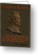 Gettysburg Greeting Cards - Lincoln Gettysburg Address Quote Greeting Card by War Is Hell Store