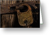 Old Lock Greeting Cards - Lincoln Lock Greeting Card by Steven Richardson