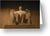 Washington D.c. Tapestries Textiles Greeting Cards - Lincoln Memorial Greeting Card by Brian McDunn