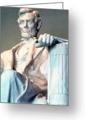 Lincoln Memorial Photo Greeting Cards - Lincoln Memorial Greeting Card by Thomas R Fletcher