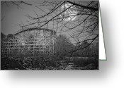 Wooden Coaster Greeting Cards - Lincoln Park N Dartmouth MA Greeting Card by Dolly Genannt