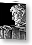 Christopher Holmes Greeting Cards - Lincoln Profile Greeting Card by Christopher Holmes