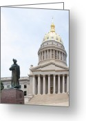 Legislature Greeting Cards - Lincoln Walks Greeting Card by Thomas R Fletcher