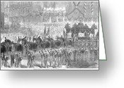 Funeral Greeting Cards - Lincolns Funeral, 1865 Greeting Card by Granger