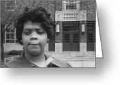 Civil Rights Greeting Cards - Linda Brown Thompson Greeting Card by Granger