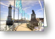 Backlight Greeting Cards - Lindau Greeting Card by Joana Kruse