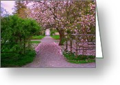 Digital Image Greeting Cards - Linden Place Greeting Card by Tom Prendergast