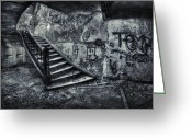 Staircase Greeting Cards - Line Of Descent Greeting Card by Evelina Kremsdorf
