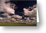 Montana Digital Art Greeting Cards - Line Shack  Greeting Card by The Stone Age