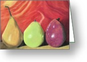 Food Pastels Greeting Cards - Line Up Greeting Card by Jan Amiss