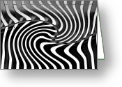 Lenght Greeting Cards - Linear Functions  Irregular Pattern Greeting Card by Mark Hendrickson
