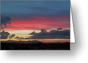 Clouds Greeting Cards - Linear Highway 5 Greeting Card by John Norman Stewart