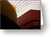 Phila Greeting Cards - Lines and Light Greeting Card by Rona Black