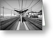 Railroad Track Greeting Cards - Lines Greeting Card by Bruce MacArthur Photography