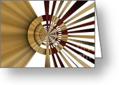 Illusion Illusions Greeting Cards - Lines Greeting Card by Kristin Kreet