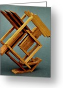 Lines Sculpture Greeting Cards - Lines Greeting Card by Lonnie Tapia
