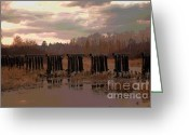 Abandon Digital Art Greeting Cards - Lines Of Abandon Greeting Card by The Stone Age