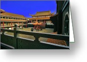Buddhist Temple Greeting Cards - Lingyen Mountain Temple 22 Greeting Card by Lawrence Christopher