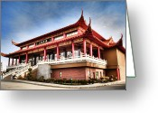 Buddhist Temple Greeting Cards - Lingyen Mountain Temple 30 Greeting Card by Lawrence Christopher