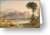 Romanticist Greeting Cards - Linlithgow Palace Greeting Card by Joseph Mallord William Turner