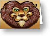 Humor Greeting Cards - Lion Greeting Card by Kevin Middleton