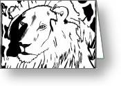 Learn To A Maze Greeting Cards - Lion Maze Greeting Card by Yonatan Frimer Maze Artist