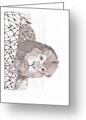 Paula Dickerhoff Greeting Cards - Lion Greeting Card by Paula Dickerhoff