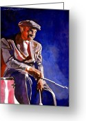 Legends Greeting Cards - Lionel Hampton  Greeting Card by David Lloyd Glover