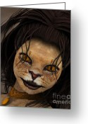 3d Graphic Greeting Cards - Lioness Greeting Card by Jutta Maria Pusl