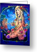 Magick Greeting Cards - Lionessa Greeting Card by Keith Stillwagon