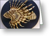 Fish Sculpture Greeting Cards - Lionfish Greeting Card by Annja Starrett