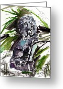 Ginette Fine Art Llc Ginette Callaway Greeting Cards - Lions Staue of Jekyll Island Georgia Greeting Card by Ginette Fine Art LLC Ginette Callaway